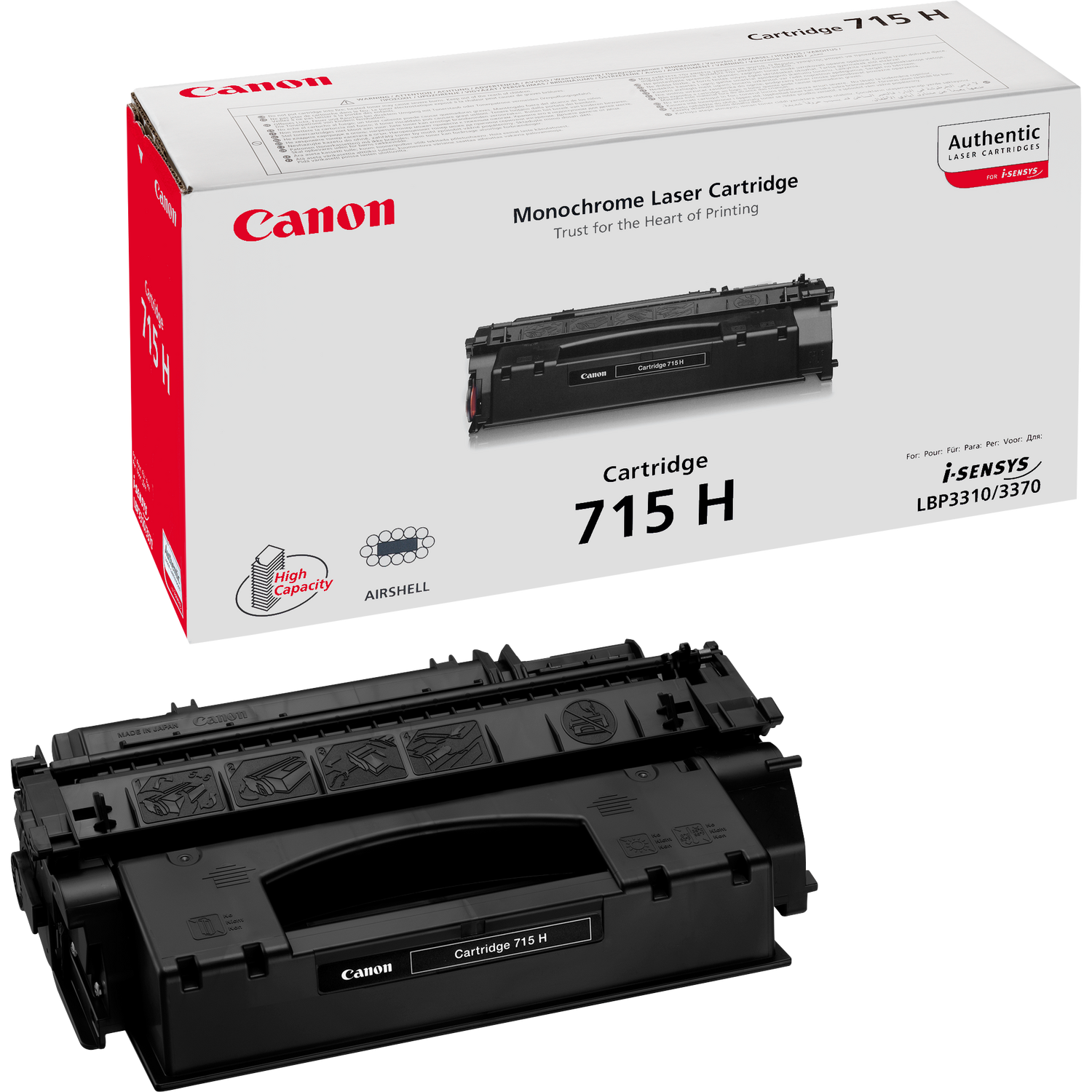 canon 715H Black toner , 7000pages - for canon laser LBP-3310/3370