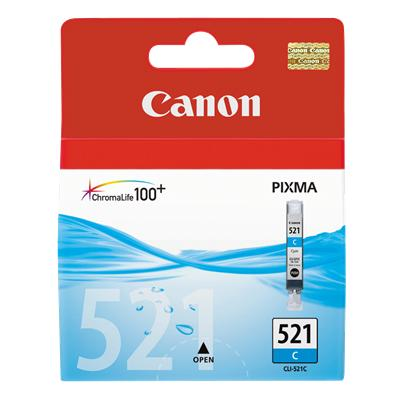 Canon CLi-521C Cyan ink - for pixma ip3600, ip4600, ip4700, mp540, mp550, mp560, mp620, mp630, mp640, mp980, mp990mx860, MX870