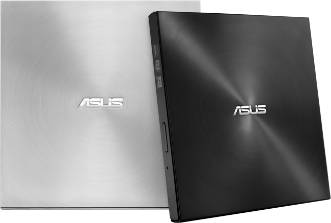 Asus SDRW-08U7M-U , External 8x Zen-drive u7m - Black 13.9mm Ultra-slim , with 1000-years M-Disc support , hairline metallic circular aluminum finish with built-in hidden vertical stand , support disc Encryption with password control and hidden file funct