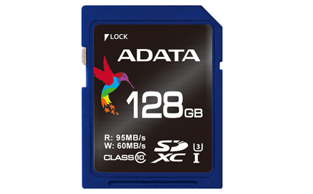 ADATA Premier Pro ASDX128GUi3CL10-R 128Gb SDXC ( Secure Digital eXtended Capacity ) , not compatible with SDHC ONLY camera/reader - UHS-i U3 ( UHS-i / SD3.0 ) , with SDMI , read/write : 95/60mb/sec  , 1300/100 ioPS read/write - lifetime warranty , retail