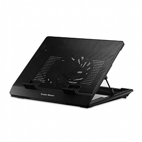 Coolermaster R9-NBS-ESLK notepal ErgoStand Lite , black , 15.6 notebook cooler , with 5x height / angle settings-  metal mesh surface , rear cable management , 160x160x15mm movable fan with fan speed controller , 700-1400rpm , 30-70CFM , 16-21dBA , powere