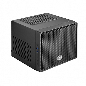 Coolermaster RC-110-KKN2 , Elite 110 mini-iTX gaming cube case with supprt for 1 x 120mm radiator  2x expansion slots - 208x280x260mm , all black with meshed front panel , No psu , support upto 210mm long vga card , 2x usb3.0  audio in/out - 3/2/1/0 x 3.5