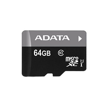 ADATA Xpg AUSDX64GUi3-RA1 64Gb miCroSDXC ( Secure Digital eXtended Capacity , 15x11x1mm ) with SDXC adapter , not compatible with SDHC ONLY camera/reader - UHS-i U3 ( UHS-i / SD3.0 ) , with SDMI , read/write : 95/90mb/sec - lifetime warranty , retail pack