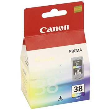 Canon CL-38 color ink , 205pages - for pixma ip1200, ip1300, ip1600, ip1700, ip1800, ip1900, ip2200,  ip2500, ip2600 , ip6210D , ip6220DMP140, MP190, MP210, MP220, MX300, MX310