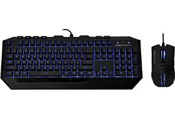 Coolermaster SGB-3010-KKMF1 Devastator with bLue LED on keyboard and mouse - keyboard (mb24)  mouse (ms2k) - 6x buttons , 800/1600/2000 Dpi , laser etched and grip coated keycaps ,  black - usb- retail pack