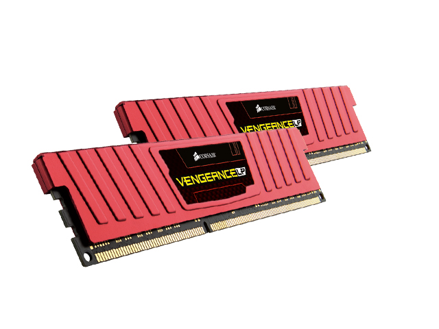 Corsair CML8GX3M2C1600C9R , vengeance Lp with Red low-profile heatsink , 4Gb x2 kit - support Intel XMP ( eXtreme Memory Profiles ) , ddr3L-1600 , CL9 , 1.35V / 1.5V dual voltage - 240pin - lifetime warranty