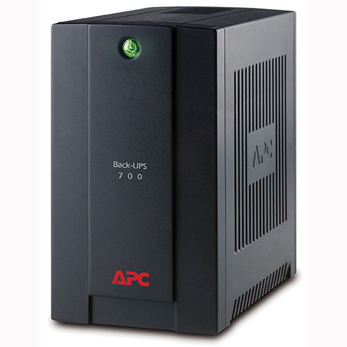 APC Back-ups BX700Ui - black with AVRpower conditioning , line interactive , 700VA / 390w , 4x iEC power outputs - RJ-11 modem/fax  RJ-45 UTP protection  with monitoring software , Usb interface