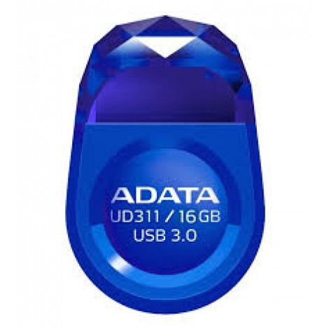 Adata UD311 16Gb Gem bLue usb3.0 flash drive , with strap hole , ultra-slim jewel-like with water resistant , COB ( Chip-on-Board ) design , 25x17x8mm  3 grams weight compact design , read : 85 mb/sec , support Linux , Mac OS , support free OStoGO  UFDtoG