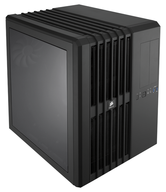 Corsair CC-9011030-WW carbide series air 540 Windowed ( full -sized side window ) , with direct airflow path , 2x vertical dedicated component chamber , support upto 360mm radiator ( if one day available ) , black , no psu , support upto 320mm graphics ca