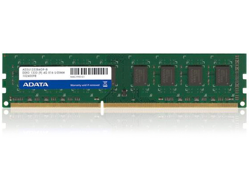 Adata AD3U1600C2G11-R Value 2Gb , ddr3-1333 ( PC3-10666 ) , CL9 , 1.6v - 240pin - lifetime warranty - Retail pack