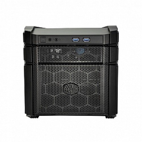 Coolermaster HAF-915F-KKN1 HAF 915F stacker , stackable with pump  cable pass-through between 915 / 935 , all black , no psu ( Front positioned psu design ) , black , SECCplastic  -2x front usb3.0  audio in/out - 1x 5.25 , 3x 2.5/3.5 hidden with drive rai