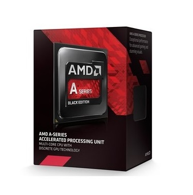 Amd socket FM2 ( godavari APU ) A6-7470K with GPU blacK edition , Dual-cores ( 3.7ghz box cpu  / 4.0ghz turbo core ) Black edition , 1mb L2 cache  built-in HD graphics ( 756mhz , 256 stream processor ) , intergrated DDR3-1866 memory controller , 28nm , TD