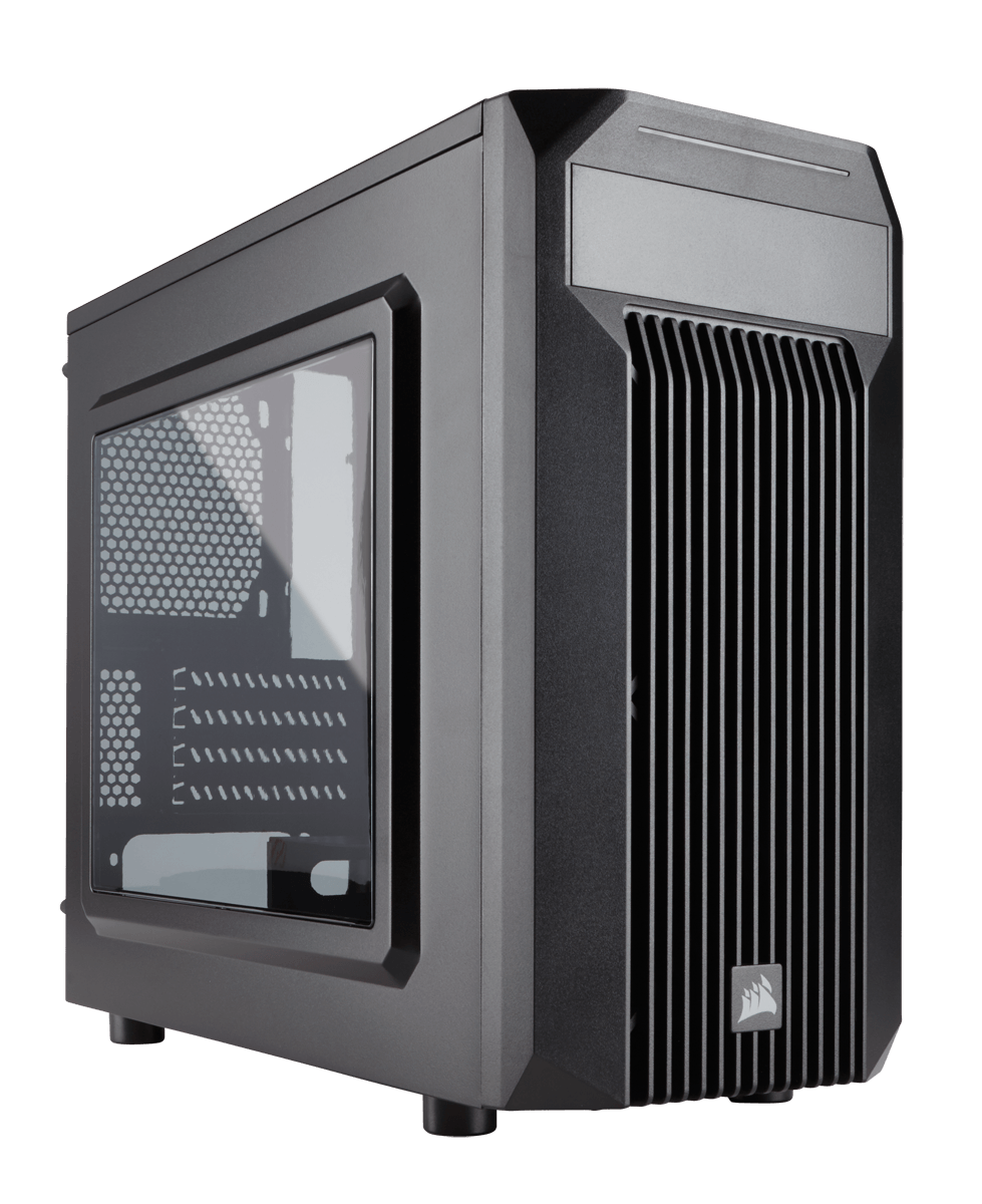 Corsair CC-9011087-WW carbide series spec-M2  Windowed side panel , No psu , all black , support upto 383mm graphics card / 120240mm radiator  1x usb 3.0  1x usb2.0  audio in/out - 1x 5.25 , 2x 3.5 , 2x 2.5 hidden - 1x 120mm white led fan upto 5 - micro-A
