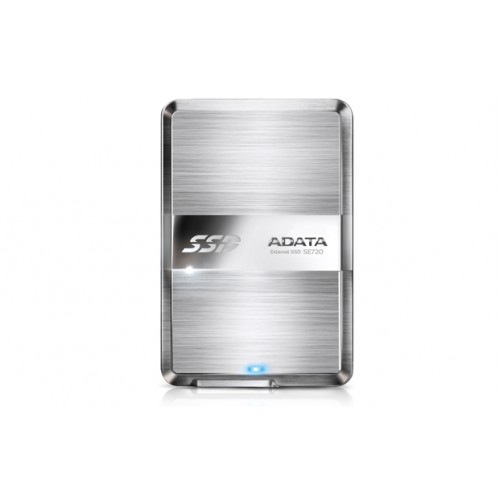 Adata SE270 series , external 128Gb SSD , 8.9mm ultra slim  1-touch backup button  stainless steel housing with hairline finish  with transmission status LED , usb 3.0 (usb2.0 backward compatible ) , usb-powered , 117x79x8.9mm , with OStoGO  HDDtoGo utili