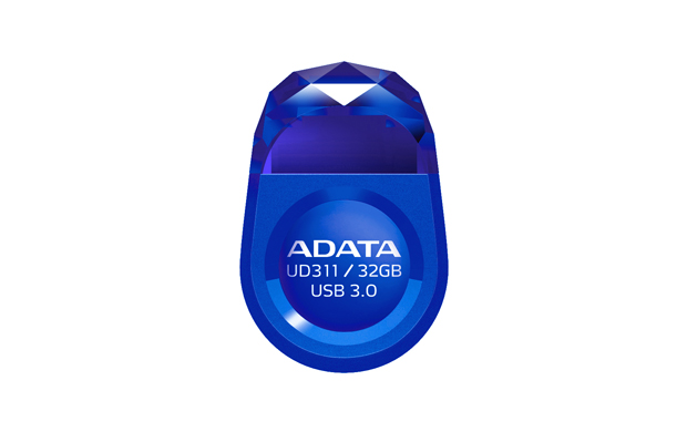 Adata UD311 32Gb Gem bLue usb3.0 flash drive , with strap hole , ultra-slim jewel-like with water resistant , COB ( Chip-on-Board ) design , 25x17x8mm  3 grams weight compact design , read : 85 mb/sec , support Linux , Mac OS , support free OStoGO  UFDtoG