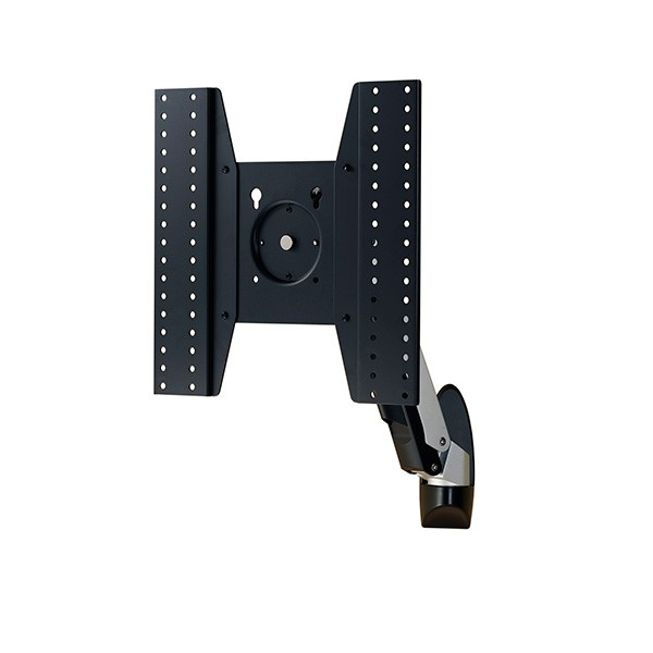 Aavara ATW10L full motion display arm- wall mount , 1 arm / 2 joints - 110 ( 90-20 ) tilt angle adjustable , 95 ( 60-35 ) tilt arm adjustment , /-90 swivel angle adjustable , 360 rotation pivot for landscape or portrait , height adjustable , with ExperTor