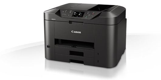 Canon maxify MB2340 printscancopyfax all-in-one business inkjet - networkcloud ready ( wired  wireless ) , 4 single ink , duplex printing , 7.5cm touch screen LCD  print 600x1200dpi  mono/color : 23/15ipm , input : 250250s dual paper tray  with 50pages AD