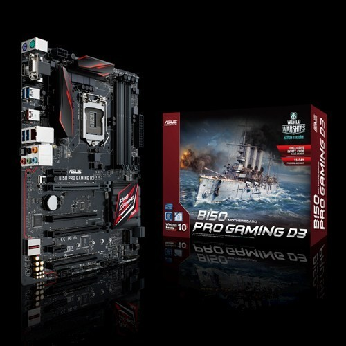 Asus B150-Pro-Gaming-D3 : all-in-one LGA1151(sKylake) mb , with Gamers Guardian ( DiGi VRM digital power design  OCP  ESD guard  stainless steel back I/O port ) , FanExpert3  Sonic Radar II  GameFirst III intel LAN  RAMcache , support fan extension card ,