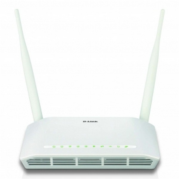 D-link DSL-2750U White white ADSL2 modem  wireless router  4port 10/100 switch , 802.11b/g/N , 300mbps , 1x Usb for printer / storage / USB3G  ADSL2/2 : 24Mbps downstream / 1Mbps upstream , with WPS button , 64/128bits WEP , WPAWPA2 2x detachable antenna