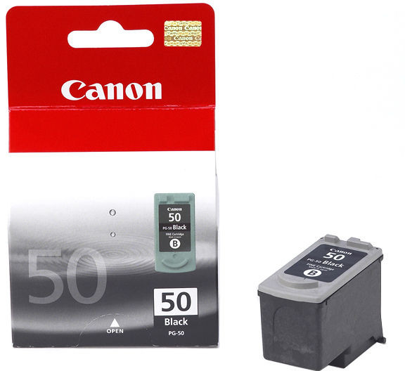Canon PG-50 pigment black ink , high yield 1170 pages  - for pixma ip2200MP150, MP160, MP180, MP460, MX300, MX310fax-jx200, jx210p,  jx500, jx510p