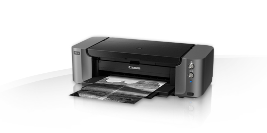 Canon pixma Pro-10 , 10 single ink - network ready ( wired  wireless ) , manual duplex printing  A3 , 4800x2400dpi  4pl Micro-Nozzles , FINE , input : 150s  cd/dvd printing tray , built-in flat paper path - USB  UTP  PictBridge direct print