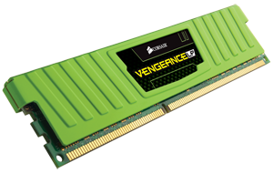 Corsair CML8GX3M2A1600C9G , vengeance Lp with low-profile Green heatsink , 4Gb x2 kit - support Intel XMP ( eXtreme Memory Profiles ) , ddr3-1600 , CL9 , 1.5v - 240pin - lifetime warranty