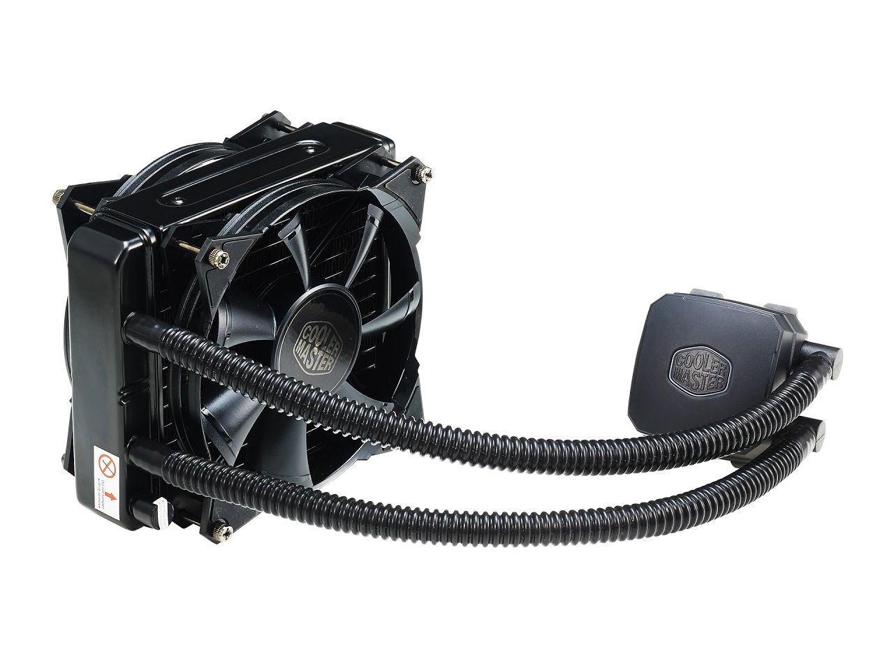 Coolermaster RL-N14X-20PK-R1 Nepton 140XL - cpu water cooling - Ultra-fine Micro Channels copper based , pre-filled / closed-loop / sealed coolant system , 171x139x38mm aluminum radiator with 2x 140mm JetFlo fan , 800-2000rpm , 54-122.5CFM , 0.7-3.5mmH20