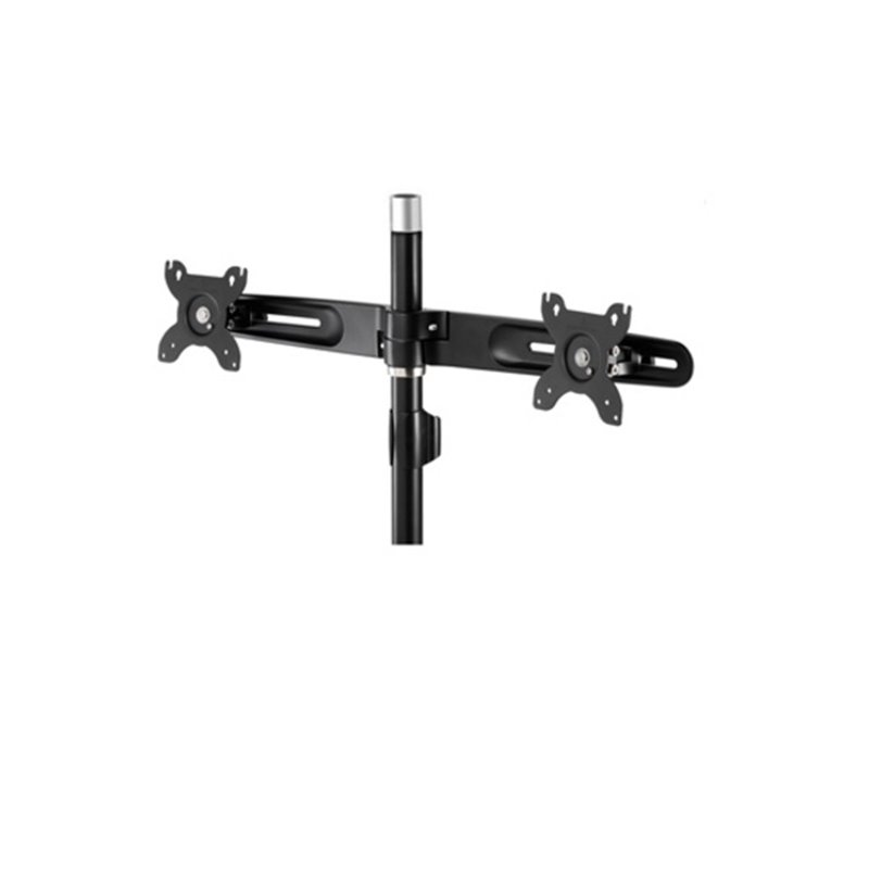 Aavara DS440 dual flip mount extended pole - add extra 2x lcd for TS742/TC742/Ti742/DS200 - 2x independent swing arms , horizontal  vertical shift  30 swivelable  30 tilt  90 rotation pivot for landscape or portrait , height adjustable , with ExperTorque