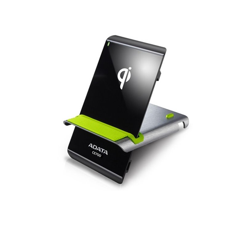 Adata CE700 wireless charging station - for WPC-Qi certified mobile device , flat or angled stand design - 140x75x12mm