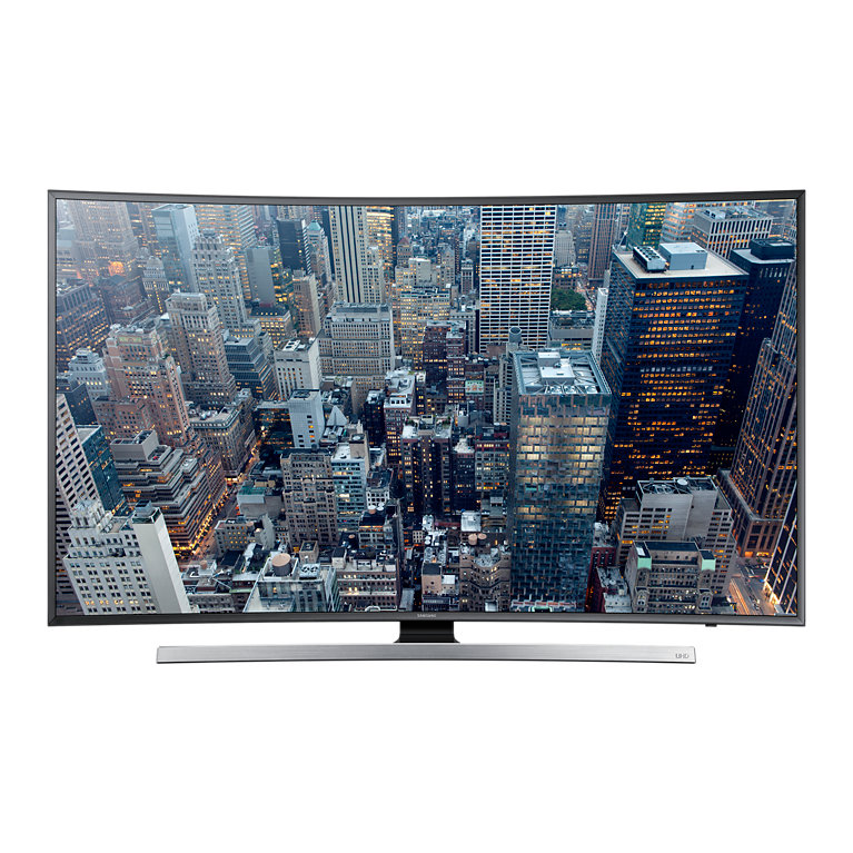 55 UHD CURVED LED TVPurColour, Peak Illuminator, Precision Black, UHD Upscaling, UHD Dimming, Chamfer Design, Auto Depth Enhancer, Smart Hub, TIZEN OS, Quad-Core processor, 3D, Quick Connect, CMR 1000, Ultra Clear Panel