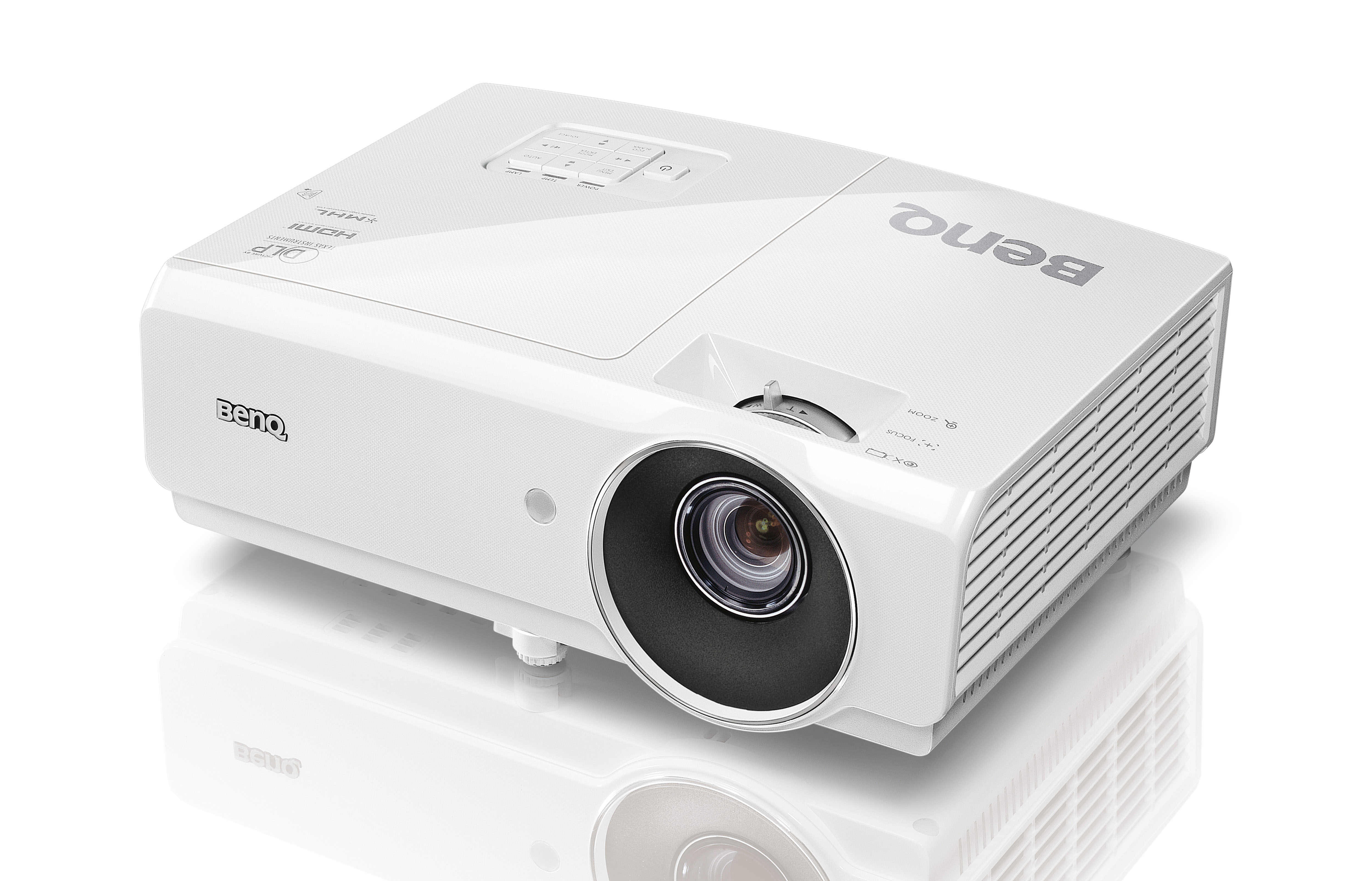 Benq Projector MW727      1280 x 800 Resolution, 4200 ANSI Lumens, 11000:1 Contrast Ratio,  D-Sub, HDMI x2, S-Video, RCA Inputs, Remote Control, Carry Bag