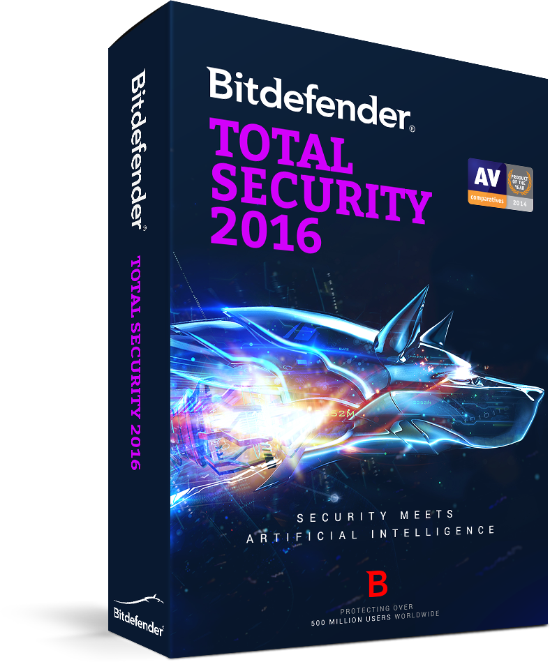 BITDEFENDER 2016  TOTAL SECURITY 1 USER