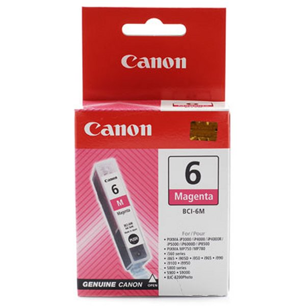 canon bci-6M Magenta ink - for ink-tank BC-50  ip3000, ip4000, ip5000, ip6000d, ip8500  mp750, mp760, mp780  i560, i8656, i905d, i9100, i950, i965, i990, i9950  s800, s820, s830d, s900, s9000  bjc-8200