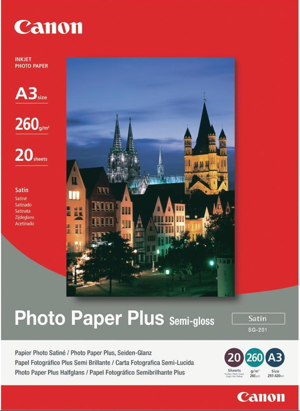 Canon SG-201 A3 photo paper plus semi-glossy - 20sheets , 260g/m