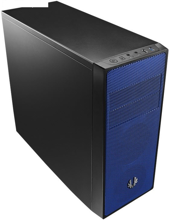 Bitfenix BFC-NEO-100-KKXSB-RP Neo - blacK  bLue mesh front panel , SofTouch surface treatment , no psu ( bottom placed  multi-direction psu design ) , support 300mm long card  1x usb 3.0  1x usb2.0  audio in/out - 2x 5.25 external , 1x 5.25 internal , 3x