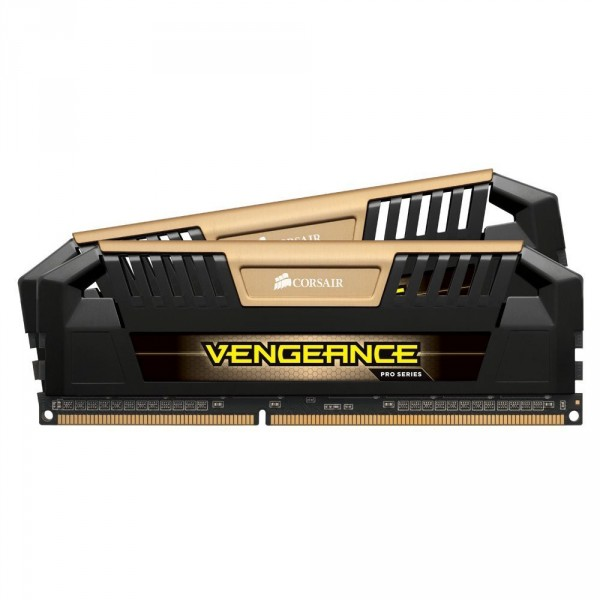 Corsair CMY8GX3M2A1600C9A , VengeancePro , black PCBheatsink with Gold accent , 8 layers PCB design , 4Gb x 2 kit - support Intel XMP ( eXtreme Memory Profiles ) , ddr3-1600 , CL9 , 1.5v - 240pin - lifetime warranty