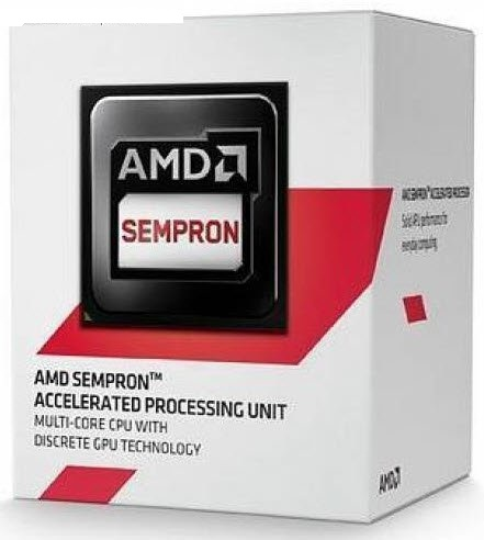 Amd socket Kabini AM1 sempron 2650 with GPU , Dual-cores ( 1.45ghz box cpu ) , 1mb L2 cache  built-in HD8240 graphics ( 400mhz , 128 stream processor , 8x texture unit , 4x RoPs , 3.2 Gigatexels/s texture fill rate , 102.4 GFLoPS ) , intergrated DDR3-1333