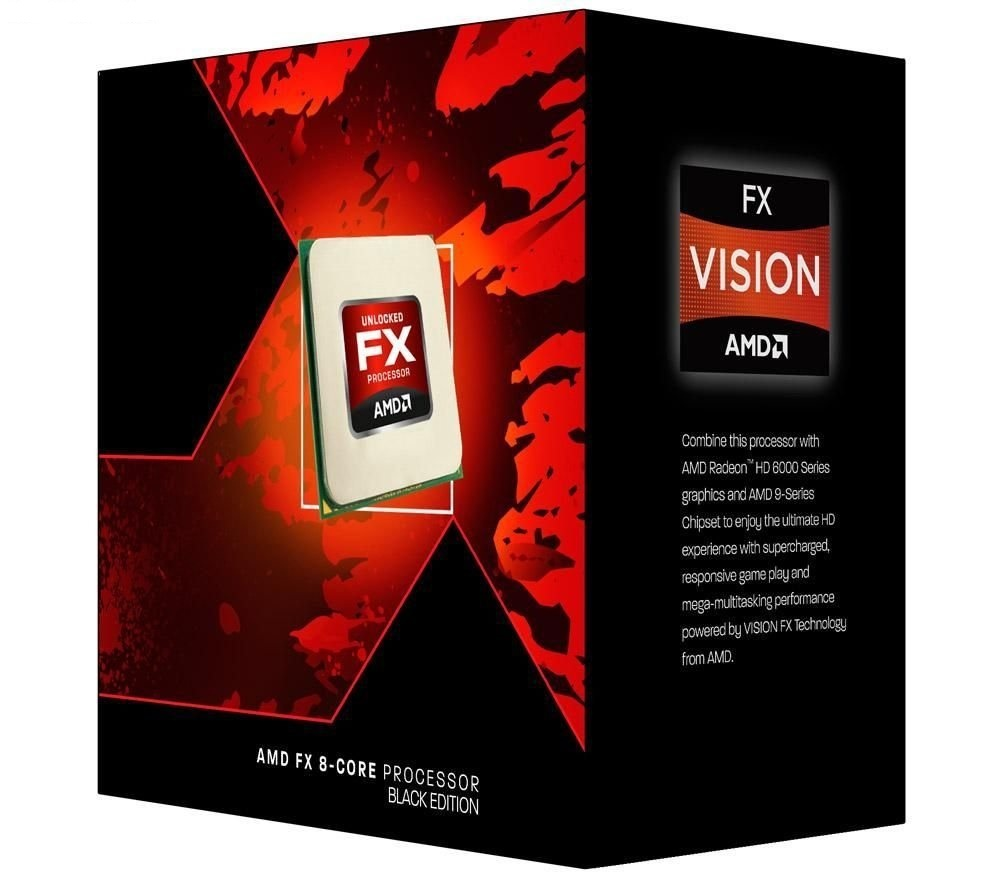 Amd vishera / socket AM3 , FX-8370 - 8x cores ( 4.0ghz box cpu  / 4.3ghz turbo core ) Black edition , unlocked clock multiplier  384k L1  4x 2mb L2  shared 8mb L3 , intergrated dual channel DDR3-1866 memory controller  32nm , 125w , 4000mhz HT3.0  HT3.0 ,