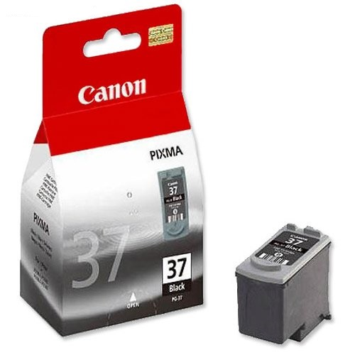 Canon PG-37 pigment black ink , 220pages - for pixma ip1200, ip1300, ip1600, ip1700, ip1800, ip1900, ip2200, ip2500, ip2600MP140, MP190, MP210, MP220, MX300, MX310