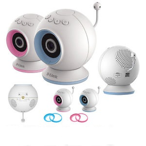 D-Link DCS-825L HD baby cam - iP camera with interchangeable accent color rings , turn mobile device into a baby monitor , with temperature sensor  light - 10/100 or 802.11G/N wireless-N 300 with H.264 codec , day and night under all light condition via b