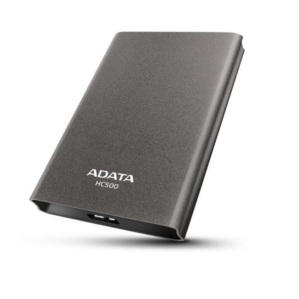 Adata 1Tb/1000Gb HC500 Titanium , as TV disk/PC cloud , supports smart TV programmable recording , with NTi MiST personal cloud backup software , rugged  metal finish with side groove for easy carriage , G Shock Sensor Protection with warning LED   HDD tr