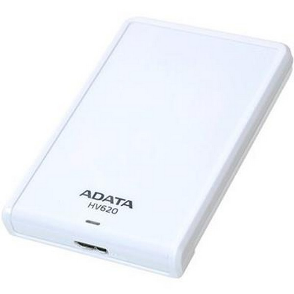 Adata HV620 series White , 500Gb , glossy white with scratch-prevention design , with HDD transmission status LED , usb 3.0 (usb2.0 backward compatible ) , usb-powered , 115x78x15mm , with OStoGO  HDDtoGo utilities  60days trial norton internet security -