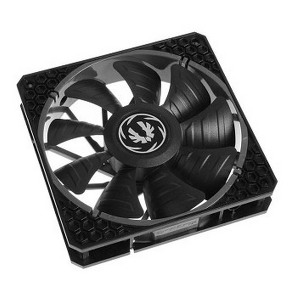 Bitfenix BFF-SPRO-P14025KK-RP Spectre Pro Pwm , all blacK - high pressure/CFM , with dual frame construction  anti-vibration rivets  , 140x140x25mm , 9x reinforced fan blades , curved design fin for focused airflow , FDB ( Fluid Dynamic Bearing ) bearing