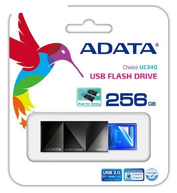 Adata 256Gb UC340 blkBlue