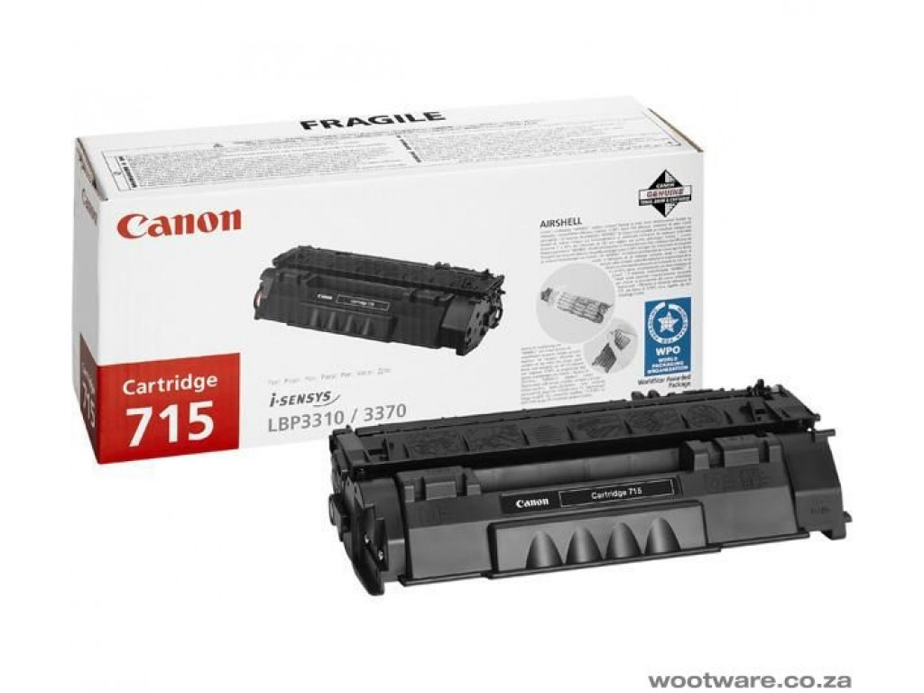 canon 715 Black toner , 3000pages - for canon laser LBP-3310/337