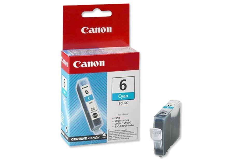 canon bci-6C Cyan ink - for ink-tank BC-50  ip3000, ip4000, ip5000, ip6000d, ip8500  mp750, mp760, mp780  i560, i8656, i905d, i9100, i950, i965, i990, i9950  s800, s820, s830d, s900, s9000  bjc-8200