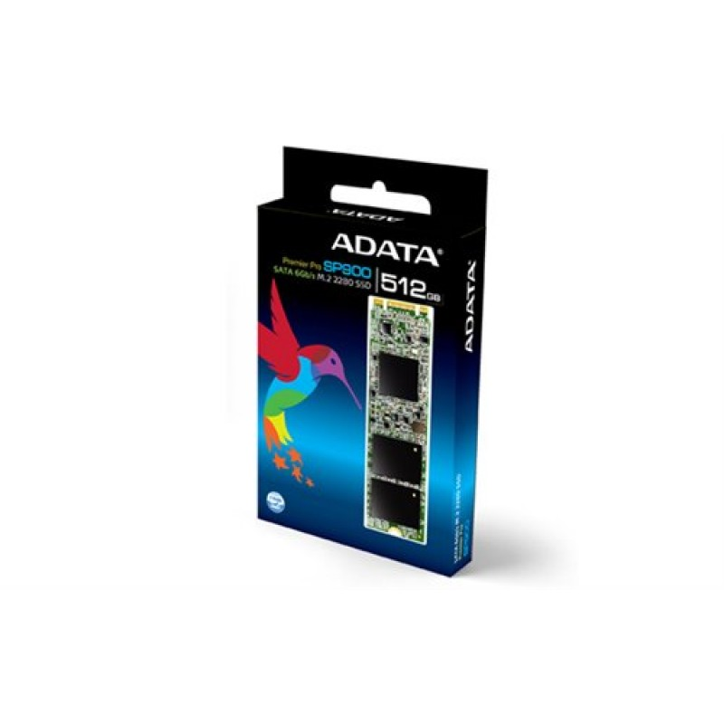 ADATA ASP900NS38-512GM-C Premier Pro SP900 M2(NGFF) series SSD , 25nm , 512Gb , type 2280 -22x80x3.5mm , for NGFF mobile device/ultrabook or SRT mb with NGFF slot , with synchronous NAND flash , sandforce SF-2281 processor , compressible data (ATTo) read/