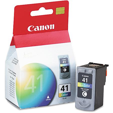 Canon CL-41 color ink , 308pages - for pixma ip1200, ip1300, ip1600, ip1700, ip1800, ip1900, ip2200,  ip2500, ip2600 , ip6210D , ip6220DMP140, MP150, MP160, MP180, MP190, MP210, MP220, MP460, MX300, MX310