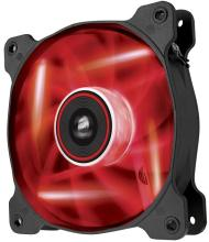 Corsair Co-9050017-RLED AF140 Quiet with Red led - 140x140x25mm , advanced hydraulic bearing , 11 blades , rubber corners for noise reduction , 1200rpm , 25.5dBA , 66.4CFM , 0.8 mm/H2o static pressure
