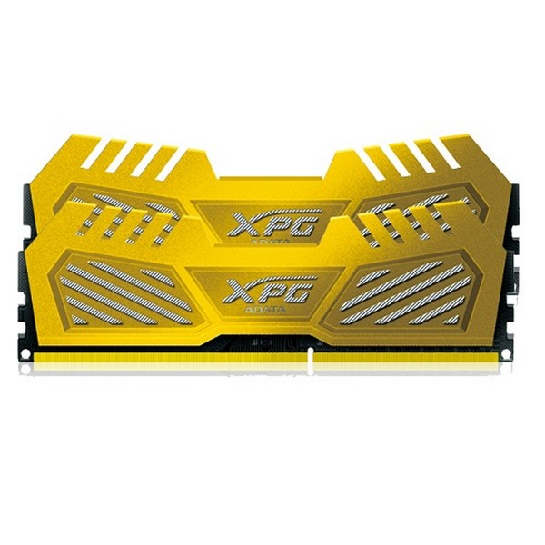 Adata AX3U2800W8G12-DGV XPG v2 , Yellow (gold) , 2oz Copper 8-layer PCB with TCT (Thermal Conductive Technology ) , 8Gb x 2 kit - support Intel XMP ( eXtreme Memory Profiles ) , ddr3-2800 , CL12 , 1.65v - 240pin - lifetime warranty